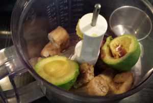 bananas avocado food processor