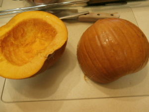 pumpkin halves
