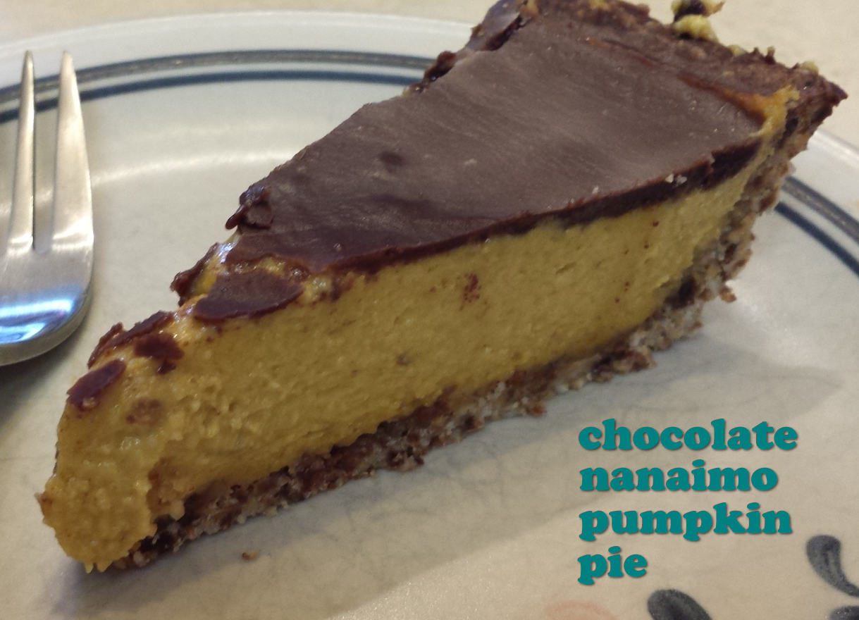 Chocolate Nanaimo Pumpkin Pie