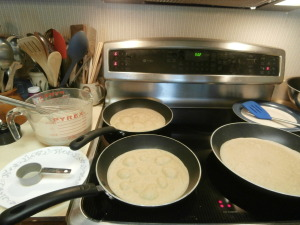 Tortillas, cooking