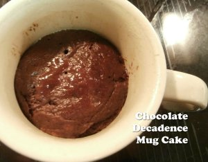 chocolate decadence mug cake