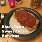back bean sweet potato burritos
