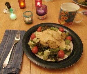 falafel for dinner