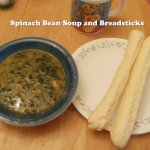 Spinach Bean Soup and Breadsticks