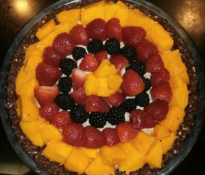 Fresh Fruit Pie with Chocolate Brownie Crust