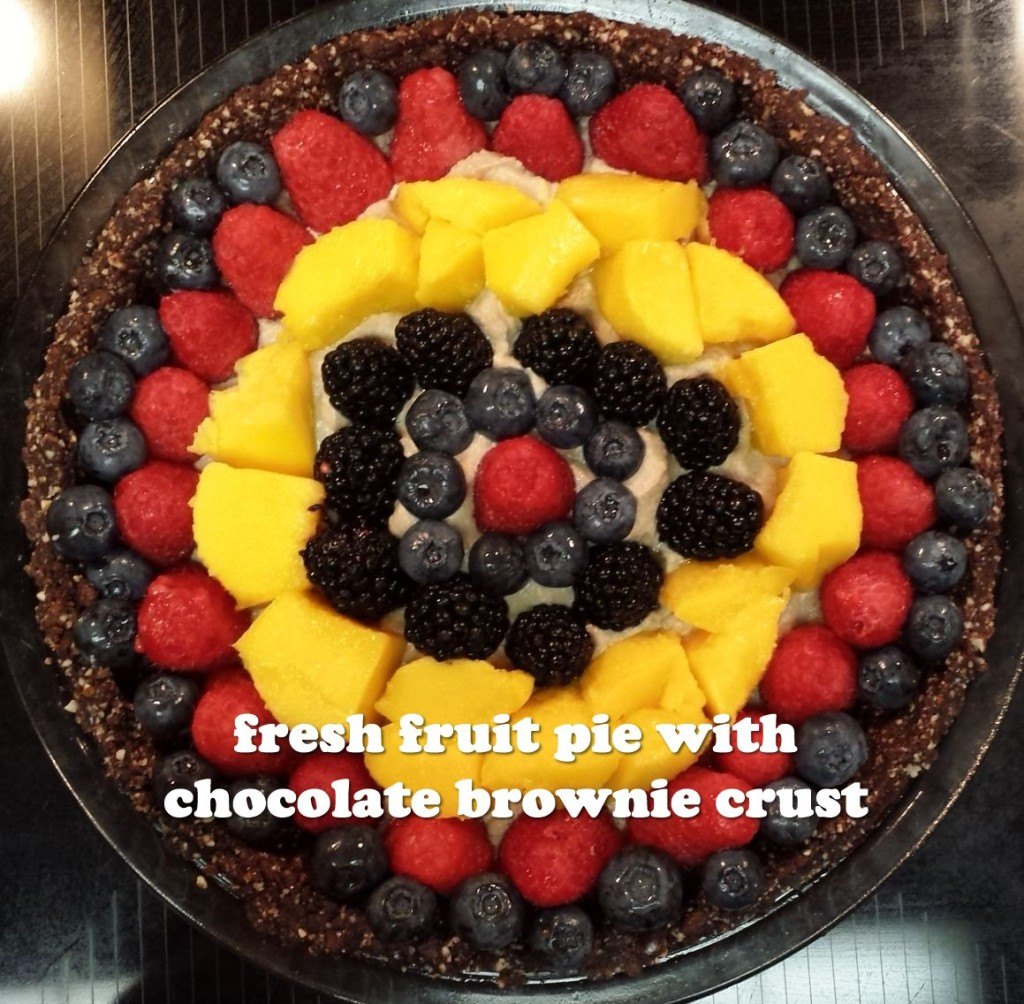 Fresh Fruit Pie With Chocolate Brownie Crust