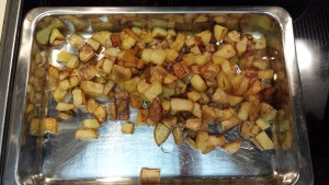 Toasted potatoes