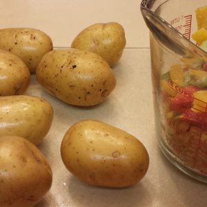 Potatoes and frozen veggies