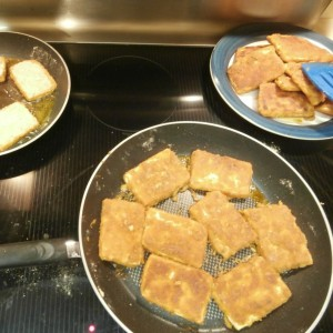 tofu, frying