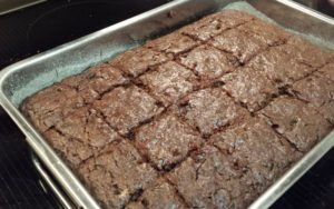big pan of zucchini brownies