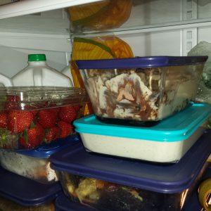 Tiramisu in refrigerator