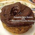 Pumpkin Spice Donuts with Chocolate Ganache Topping