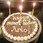 Chocolate decadence birthday cake for Arlo
