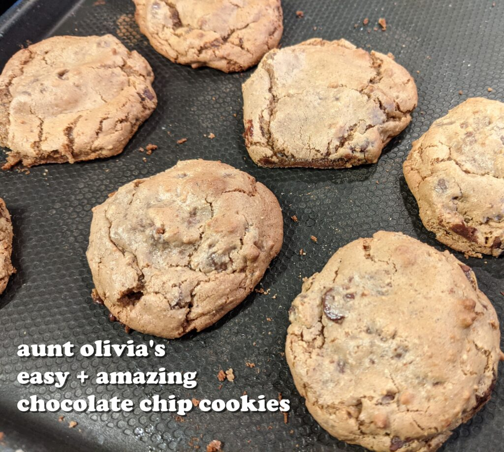 aunt olivia's easy and amazing gluten-free chocolate chip cookies